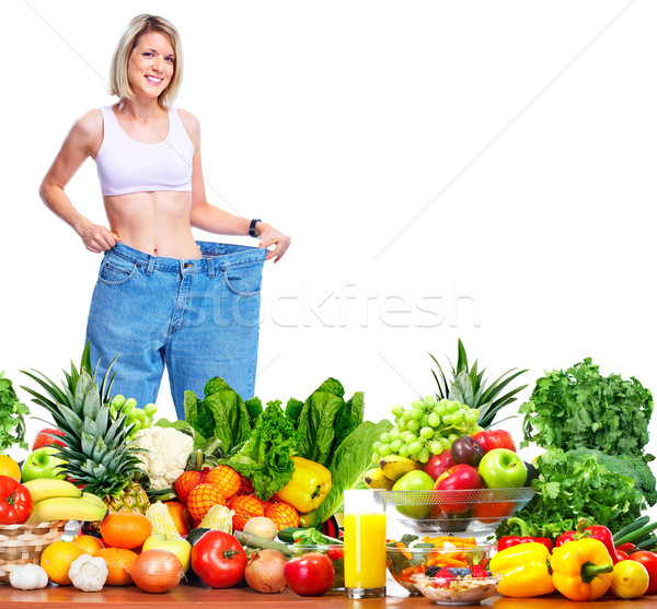 Woman losing weight. Stock photo © Kurhan