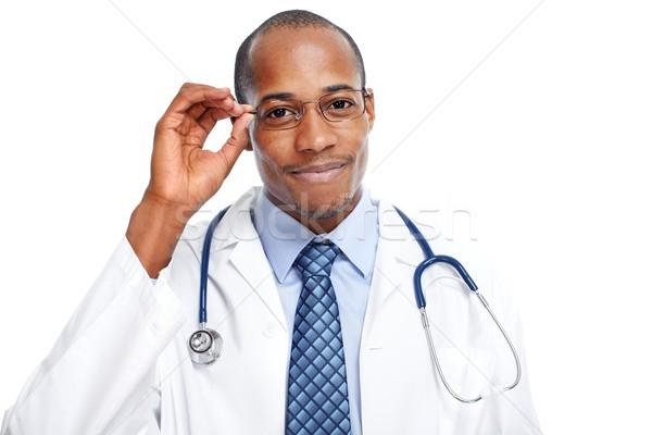 African-American black doctor man. Stock photo © Kurhan