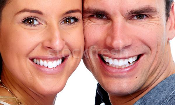 Couple with white teeth. Stock photo © Kurhan