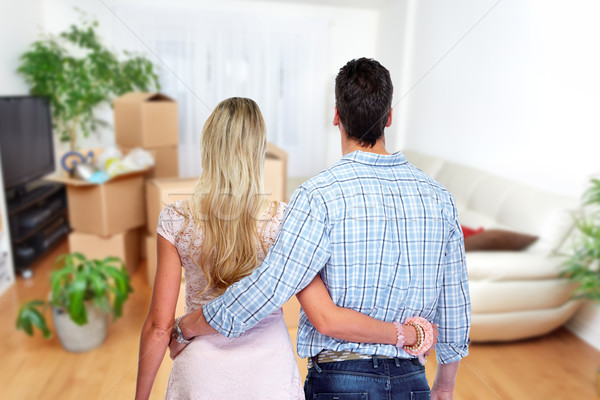 Young couple in a new house. Stock photo © Kurhan