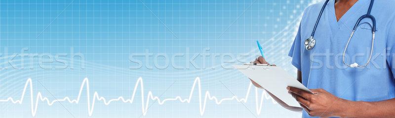 Doctor man hands. Stock photo © Kurhan