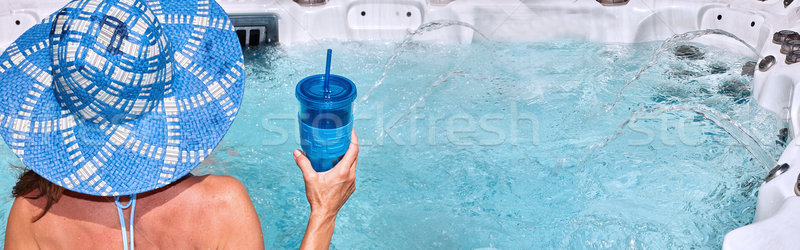 Girl in spa Stock photo © Kurhan