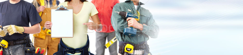 construction workers group Stock photo © Kurhan