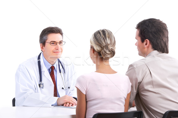 Stock photo: doctor and young couple
