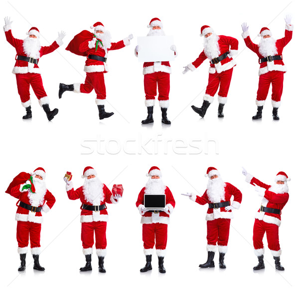 Santa Claus set. Stock photo © Kurhan