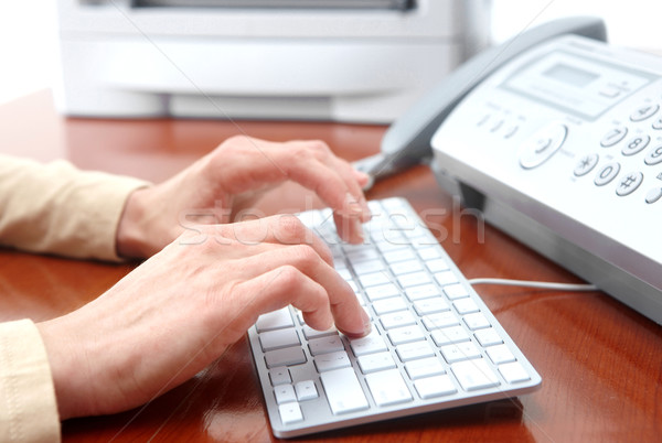 Woman typing Stock photo © Kurhan