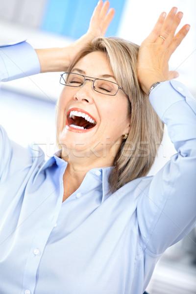 Stock fotó: Boldog · üzletasszony · iroda · üzlet · munka · igazgató