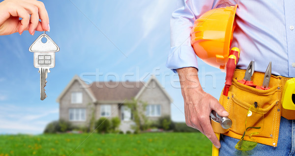 Constructeur bricoleur construction outils maison Photo stock © Kurhan