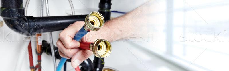 Plumber . Stock photo © Kurhan