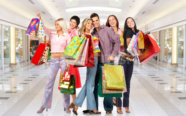 Shopping femme groupe souriant personnes modernes Photo stock © Kurhan