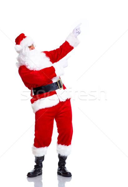 ストックフォト: サンタクロース · 幸せ · クリスマス · 歓迎 · ジェスチャー · 孤立した