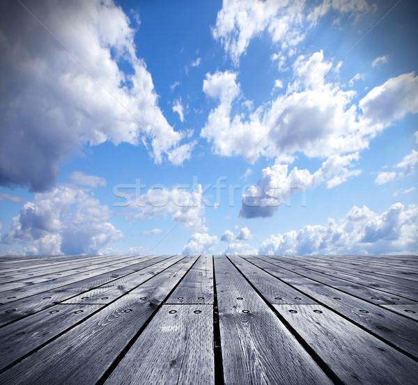 Céu criador casa pôr do sol natureza Foto stock © Kurhan