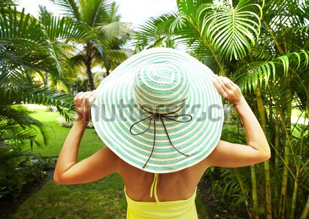 Woman on the beach. Stock photo © Kurhan