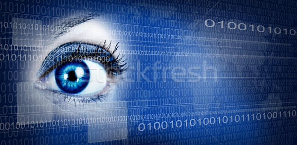 眼 技術 人間 デザイン サイバースペース ビジネス ストックフォト © Kurhan
