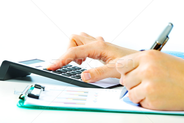 Hands with calculator. Stock photo © Kurhan