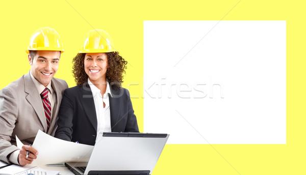 De trabajo jóvenes negocios mujer construcción trabajo Foto stock © Kurhan