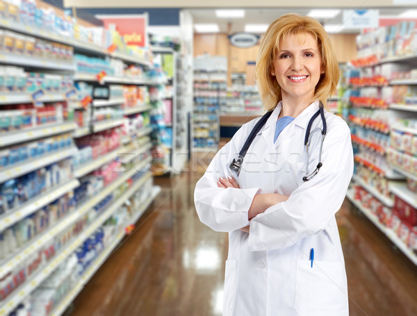 Doctor pharmacist woman. Stock photo © Kurhan