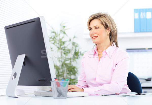 Business woman ziemlich arbeiten Büro Frauen Arbeit Stock foto © Kurhan