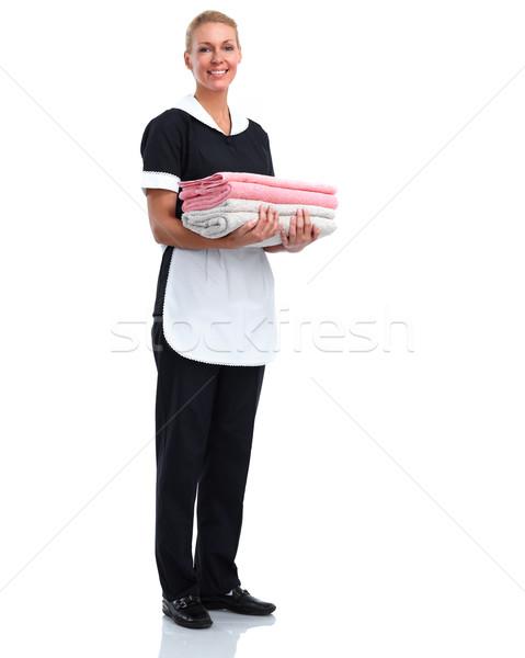 Smiling maid woman.  Stock photo © Kurhan