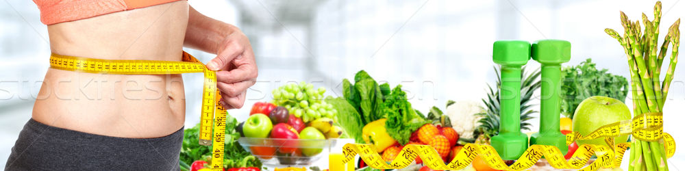 Donna addome verdura dieta Foto d'archivio © Kurhan