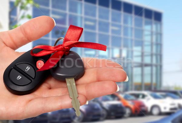 Comerciante mano clave auto Foto stock © Kurhan