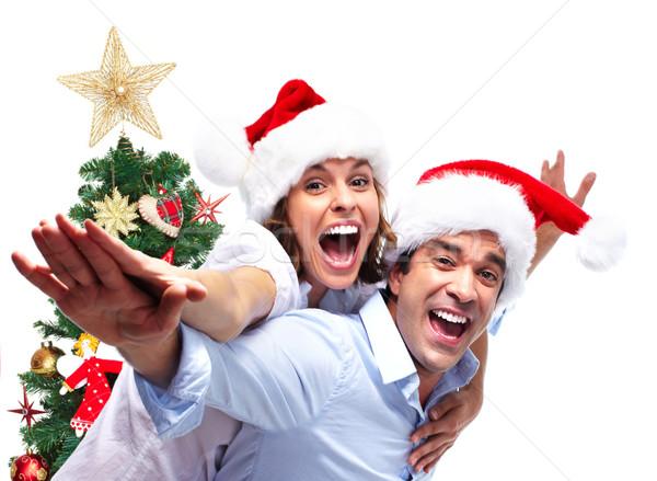 Happy Christmas couple. Stock photo © Kurhan