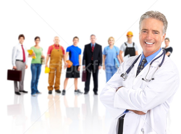 Doctor and workers people. Stock photo © Kurhan