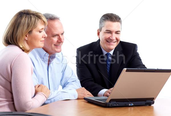 Financiële raadgever professionele geïsoleerd witte Stockfoto © Kurhan