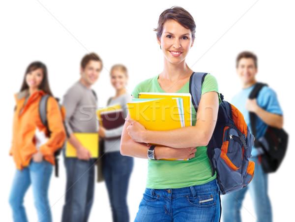 Group of happy students. Stock photo © Kurhan
