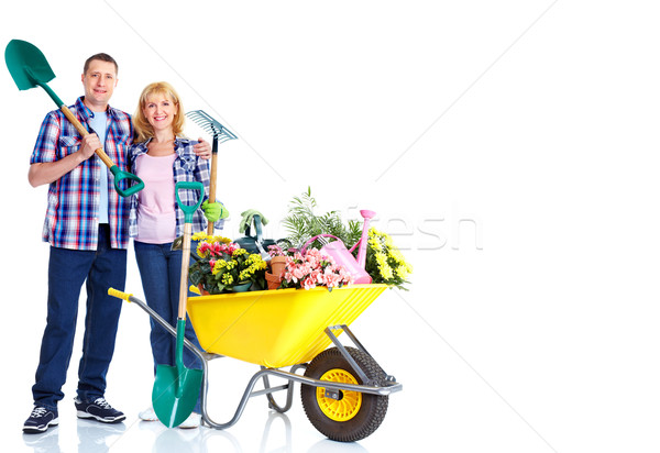 Gardening couple. Stock photo © Kurhan
