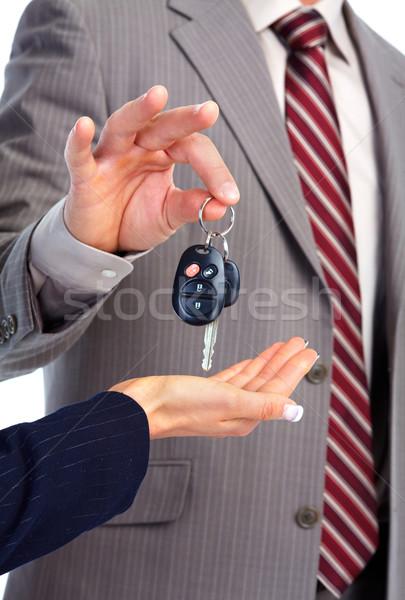 ключи от машины стороны автомобилей безопасности путешествия черный Сток-фото © Kurhan
