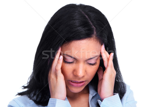 Woman having a stress. Stock photo © Kurhan