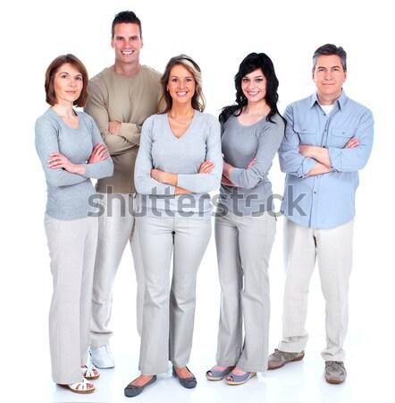 Grupo pessoas felizes isolado branco mulher família Foto stock © Kurhan