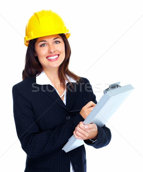 ワーカー 女性 孤立した 白 ビジネス ストックフォト © Kurhan