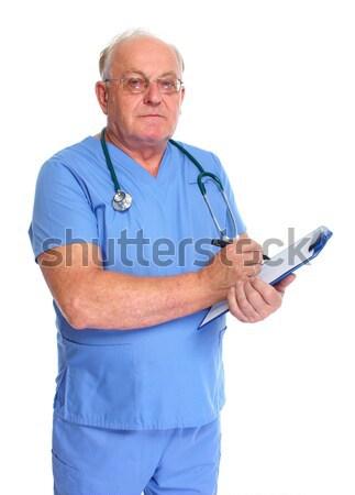 Stock photo: Elderly clinic doctor.