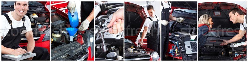自動車修理 サービス メカニック 作業 ガレージ ビジネス ストックフォト © Kurhan
