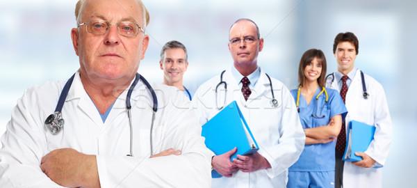Senior doctor man. Stock photo © Kurhan