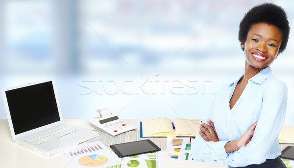 African-american business woman. Stock photo © Kurhan