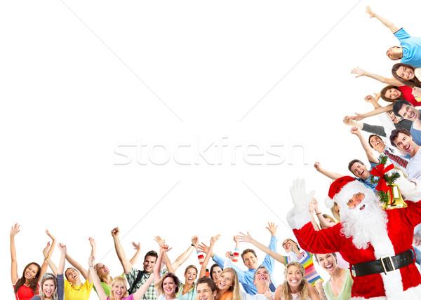 Christmas people group and Santa Claus Stock photo © Kurhan