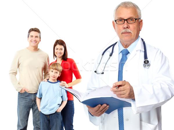 Tıbbi aile doktor yalıtılmış beyaz kadın Stok fotoğraf © Kurhan