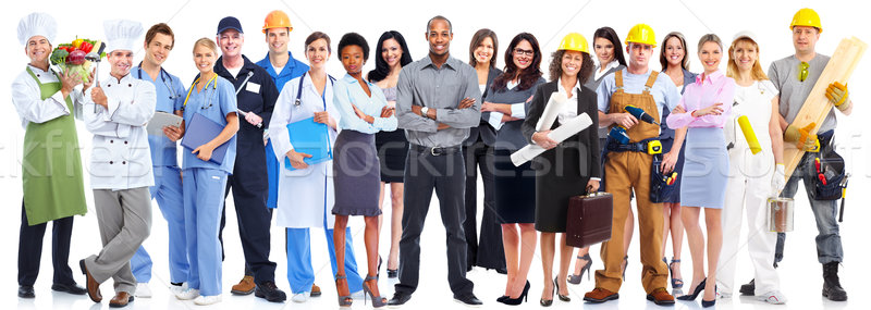 Business people workers group. Stock photo © Kurhan