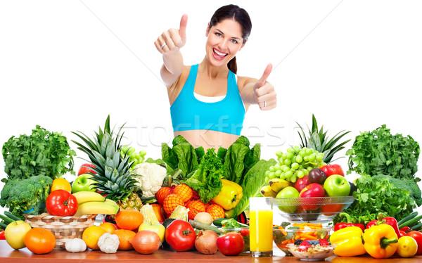 Femme perdre du poids mince saine santé régime alimentaire Photo stock © Kurhan