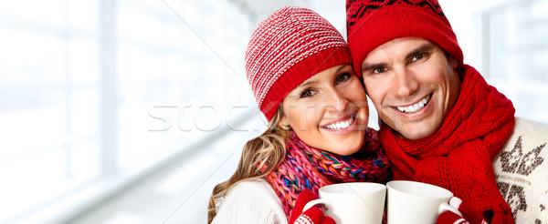 Happy couple Stock photo © Kurhan