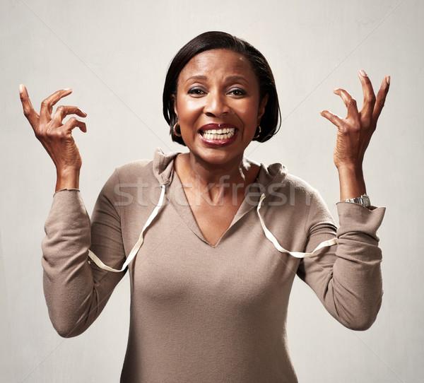 Stock photo: Happy black woman