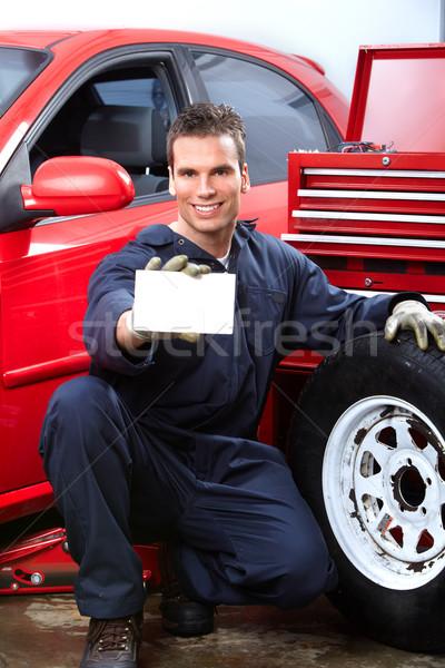Foto stock: Automático · reparar · bonito · mecânico · rodas · compras