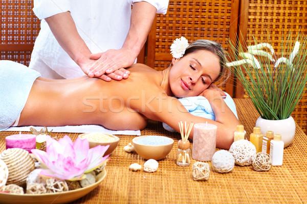 Spa massaggio bella relax fiore Foto d'archivio © Kurhan