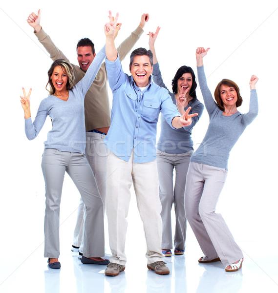 Grupo pessoas felizes dança juntos festa isolado Foto stock © Kurhan
