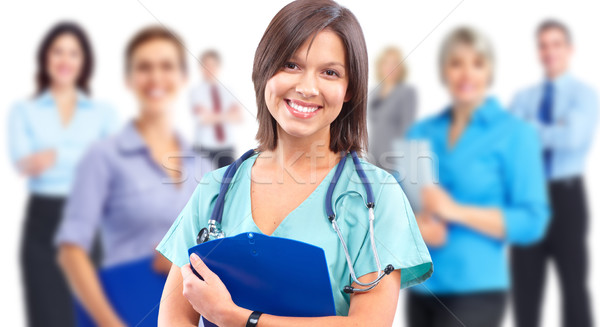 Health care medical doctor woman. Stock photo © Kurhan