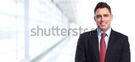 Guapo elegante empresario contabilidad financiar negocios Foto stock © Kurhan