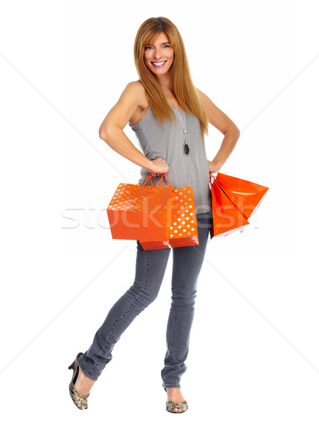 Shopping woman with paper bags. Stock photo © Kurhan